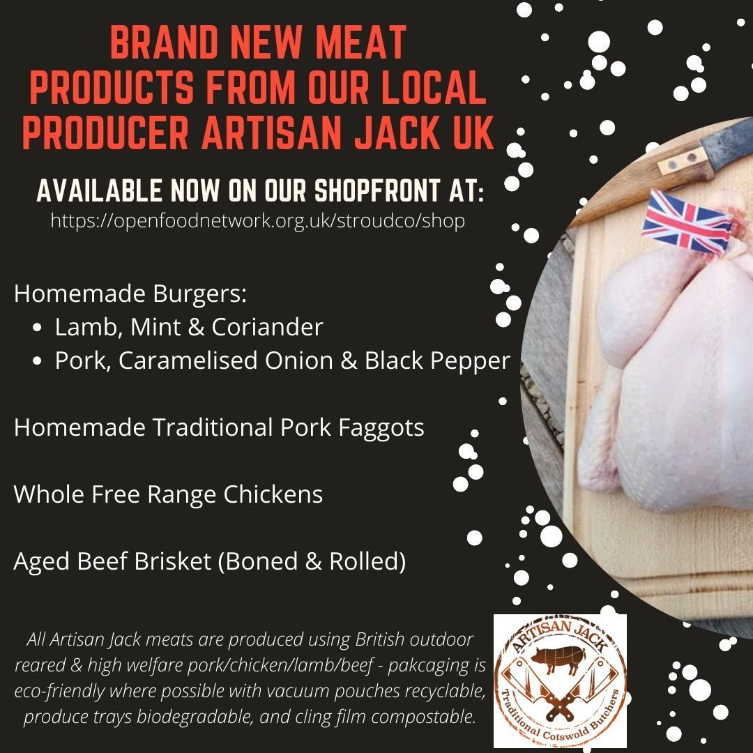 NEw meat products from local stroudco producer artisan jack