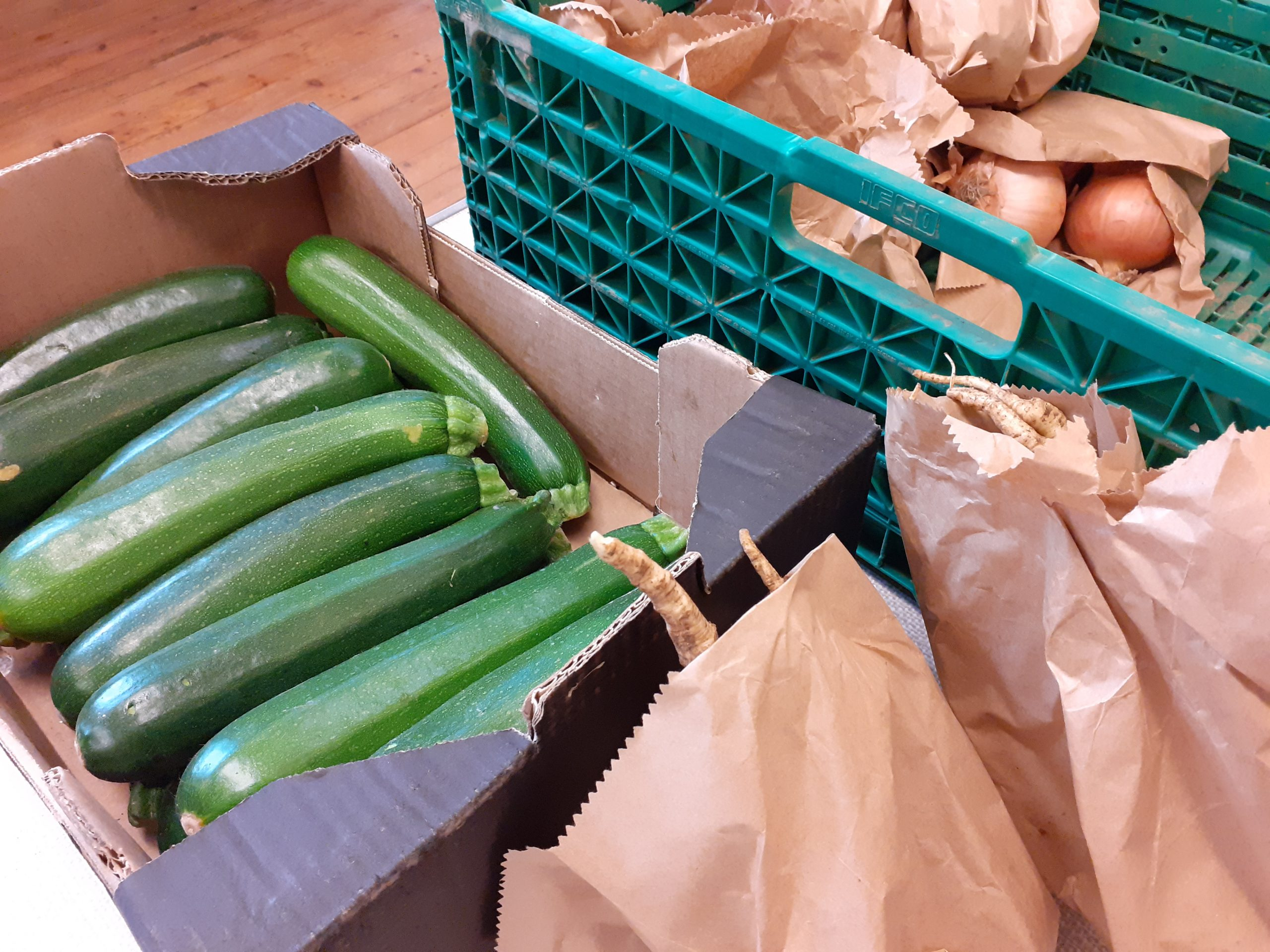 Courgettes and other veg
