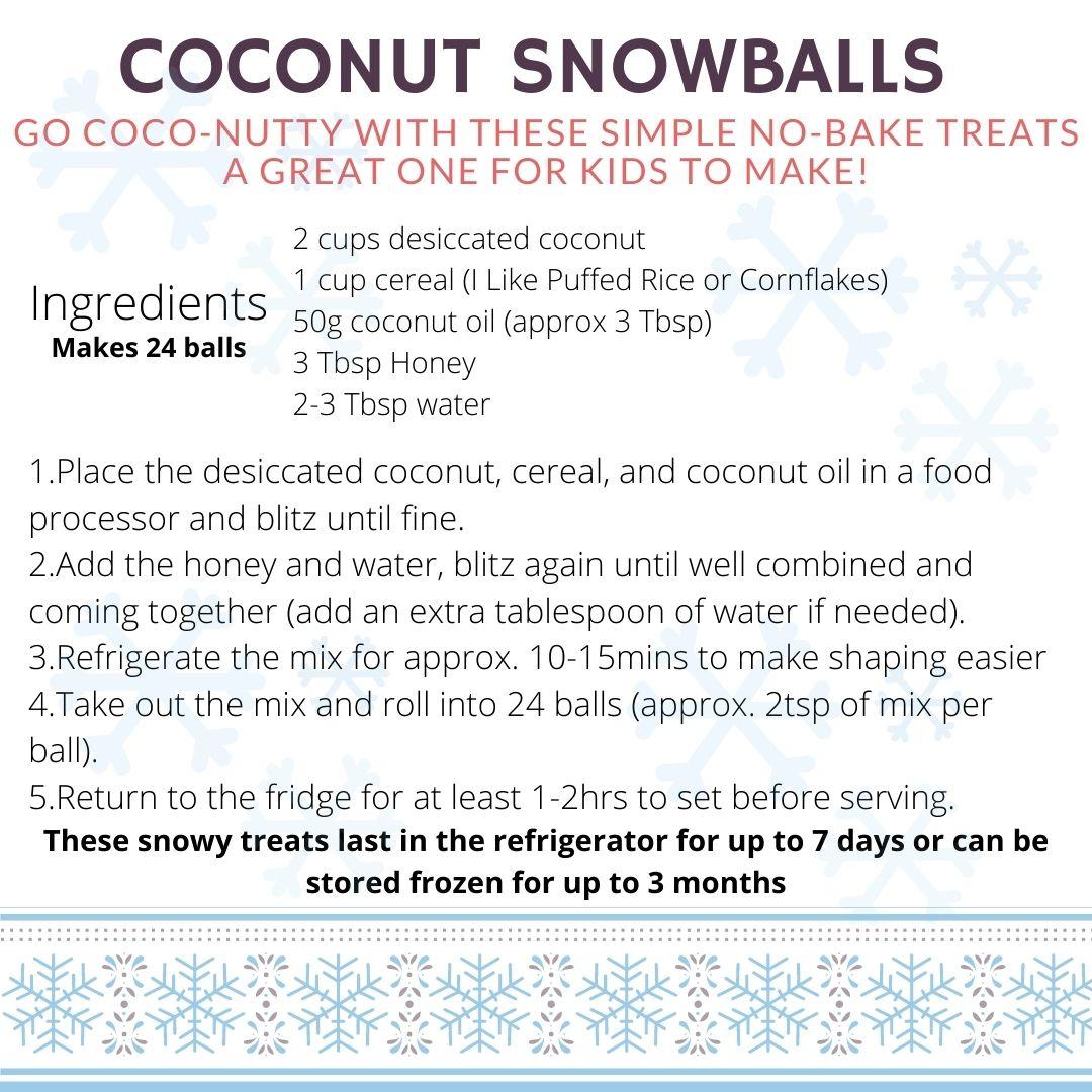 2 A Festive Coconut Snowballs